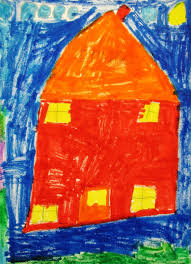 Color Houses by Art With Schmidt 1st Grade Warm And Cool Color Houses