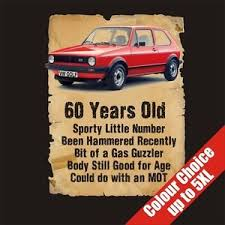 birthday gift 60 year 60 year vw golf 60th birthday gift vintage t shirt 16