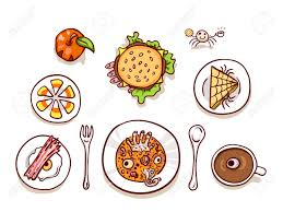 halloween scary clipart halloween lunch clip art isolated on white assortment of dips