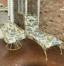 Metal Lawn Chair Vintage by Vintage Metal Patio Lounge And Chair Ebth