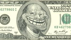Trollface Meme Generator - the maker of the trollface meme is counting his money