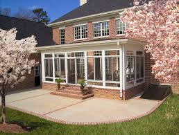 Vinyl Patio Enclosure Kits by Patio Green Grass Around Patio With Enclosure Kit In Front Of