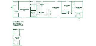 3 Bedroom 2 Bath Mobile Home Floor Plans Model 374 16x66 3bedroom 2bath Oak Creek Mobile Home Tiny Houses