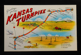 Map Topeka Ks 1950s Greetings From The Kansas Turnpike Map Service Areas