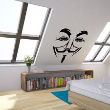 anonymous guy fawkes mask vinyl wall art decal for home decor