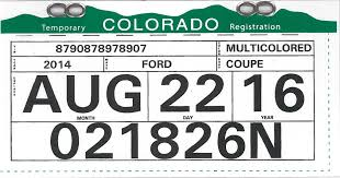 Colorado On A Map by Senate Bill 15 090 Temporary Registration Document Standards