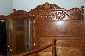 three piece solid oak bedroom set for sale antiques com