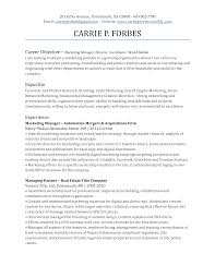 manager resume objective examples marketing manager cv format marketing manager resume sample and marketing resume objectives examples sample of marketing resume