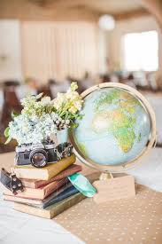 travel themed table decorations practical yet whimsical favors and diy recycled décor for your
