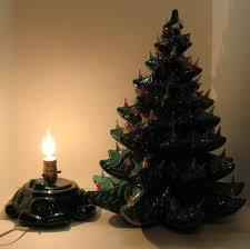 vintage ceramic christmas tree large vintage ceramic christmas tree light up base faux