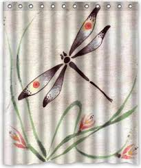 Dragonfly Shower Curtains 60 X72 Inches Dragonfly Shower Curtain New Waterproof