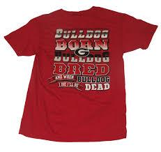 Georgia Bulldog Home Decor by Georgia Bulldogs Bulldog Born Bulldog Bred T Shirt Walmart Com
