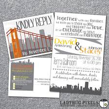 printable wedding invitation and rsvp postcard san francisco