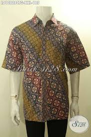 desain baju batik halus model kemeja batik pria gemuk xxl hem batik halus motif klasik nan