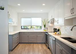 White And Gray Kitchen Cabinets  Guarinistorecom - Best white paint for kitchen cabinets
