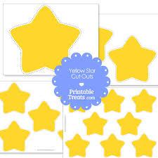 printable yellow stars cut u2014 printable treats