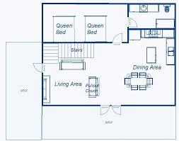 Main Level Floor Plans Deja Views Fantastic Mountain Style Cabin Vrbo