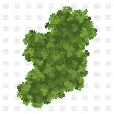 ireland map of clover shamrock irish land area vector image
