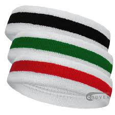 sports headband stripe sports sweat headbands cotton terry 3pieces set couver