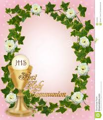 Borders For Invitation Cards Free First Communion Invitation Border Stock Image Image 9434691