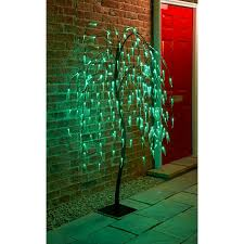 solar powered weeping willow tree 5ft light up your garden with