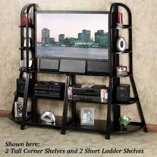 5 Tier Ladder Shelf Black Kimber Black Ladder And Corner Shelves