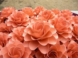 coral color paper flowers light coral or salmon color flowers for