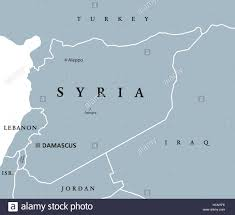 Damascus Syria Map by Syria Political Map With Capital Damascus National Borders And