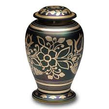 cremation urns for adults iridescent green cremation urn with shamrock design b