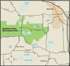 Michigan Dnr Lake Maps by Brighton State Recreation Areamaps U0026 Area Guide Shoreline