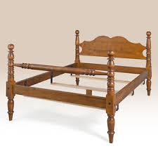 Antique King Bed Frame King Bed Frame Tiger Maple Wood Cannonball Bed Antique Style