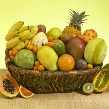 basket of fruits deluxe and tropical fruit basket