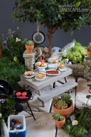 Backyard Barbeque Backyard Miniature Garden Preview Lush Little Landscapes How