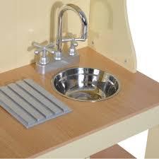 Kitchen Sink Play Homcom Children S Play Kitchen Large Wooden Cooker Play Set