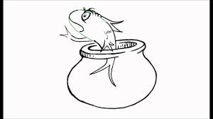 draw fish cat hat dr seuss