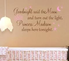 Nursery Sayings Wall Decals Nursery Sayings Wall Decals Personalized Princess Nursery Quote