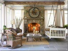 Screen Porch Fireplace by Indoor Hearth Room With An Outdoor Feel Love That Stone Fireplace