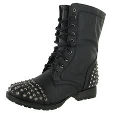 cheap boots for womens size 9 fashion 28 s combat boots studs black