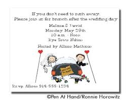 post wedding brunch invitations wedding brunch personalized party invitations by the personal note