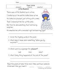 1st grade vocabulary worksheets worksheets