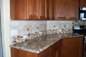 kitchen dark wooden cabinet wooden storage mosaic tile
