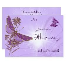 purple butterfly birthday invitations u0026 announcements zazzle