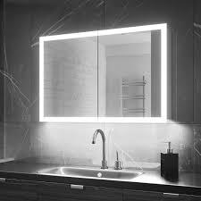lighted edge demist led colour change bathroom cabinets
