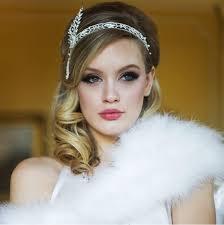 rhinestone hair gatsby headpiece pearl rhinestone hair accessory great gatsby
