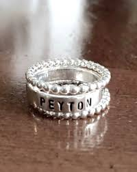 one mothers ring of one mothers name ring christmas gift kandsimpressions