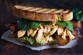 vegan sriracha mayo bacon and sriracha chicken sandwich