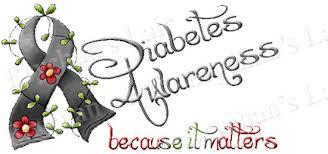 diabetes awareness because it matters craft grosgrain ribbon