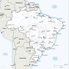 Map Of Jamaica Blank by Vector Map Of Brazil Political Vector Format And Brazil