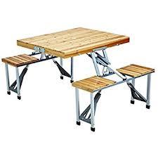 Collapsible Picnic Table Amazon Com Leisure Season Pft12 Portable Folding Picnic Table