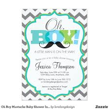 baby boy shower invitations oh boy mustache baby shower invitation 5 x 7 invitation card